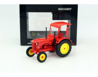 HANOMAG R35 - FARM TRACTOR WITH ROOF - 1955 - RED