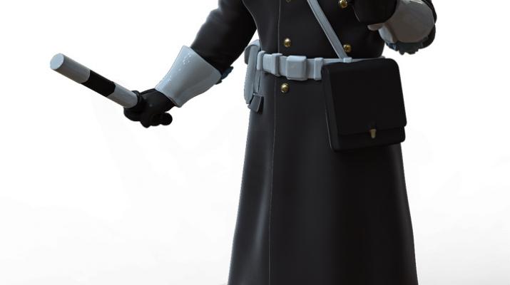 Сборная модель Фигура Инспектор ГАИ №3