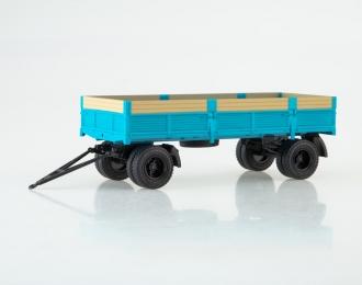 Прицеп ГКБ-8350 бортовой (с надставными бортами), голубой