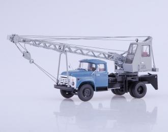 Автокран АК-75В (130), голубой / серый