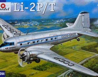 Сборная модель Советский пассажирский самолет Ли-2П / Т