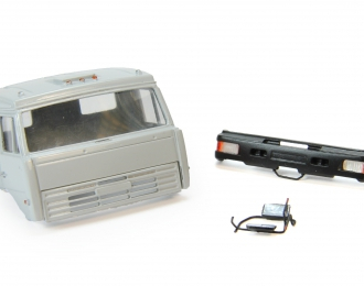 Спальная кабина для КАМАЗ (Евро-2, пластиковый бампер), серый