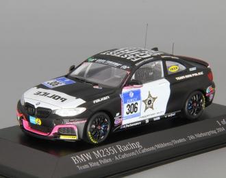 BMW M235i Racing Team Ring Police A.Carlsson J.Carlsson Muhlenz Slooten 24h Nurburgring (2014), black / white