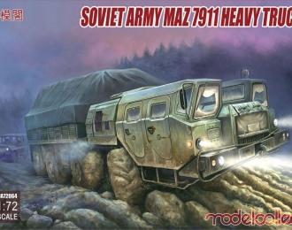 Сборная модель Soviet Army MAZ 7311 Heavy Truck