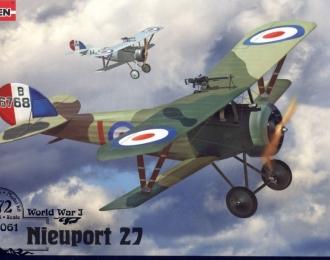 Сборная модель Самолет-биплан Nieuport Ni-27