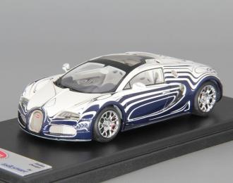 "BUGATTI Veyron 16.4 Grand Sport ""L'Or Blanc"", white / blue"