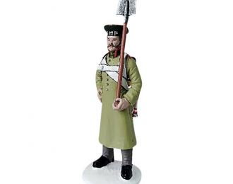 Фигурка Минер 1-го Пионерного полка в шинели, 1812–1814