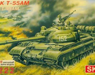 Сборная модель Советский боевой танк Т-55АМ
