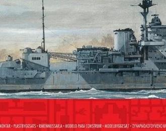 Сборная модель Британский линейный корабль HMS Warspite