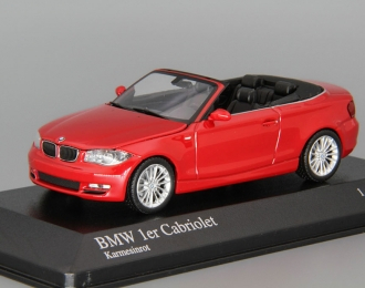 BMW 1 Series Cabriolet (2007), red