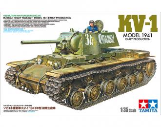 Сборная модель Советский тяжелый танк  КВ-1. Ранняя версия, с одной фигурой.
