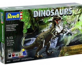 Сборная модель Динозавр Аллозавр (Подарочный набор)