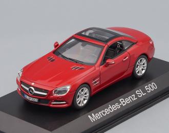 MERCEDES-BENZ SL500 Cabriolet (R231) 2012, Red metallic