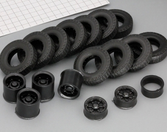 Резина, диски для КРАЗ 6х4 (ИД-304, волна)