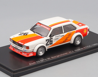 AUDI 80 Gr.II #26 W.Bergmeister/H-J.Nowak ETCC Monza (1980), white / red / orange