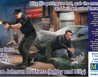 Сборная модель The Heist series, Kit №2 The Johnson brothers (Bobby and Billy)