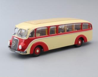 (Уценка!) MERCEDES-BENZ LO3500 bus, elfenbein / rot