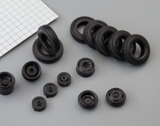 Резина, диски для ZIL 130 4х2 (волна), компл. из 7 колес