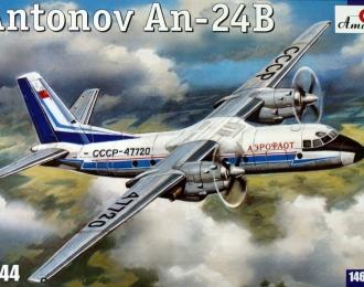 Сборная модель Советский пассажирский самолет Ан-24Б (Аэрофлот)