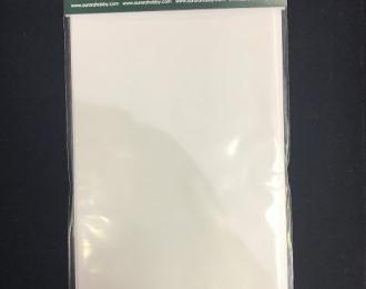 Полистирол в наборе 0.3, 0.5, 0.7 мм, 3 листа 10х20 см.