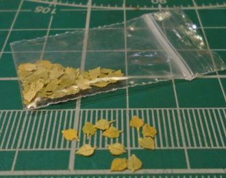 Листья для диорам Осина / береза желто-зеленая