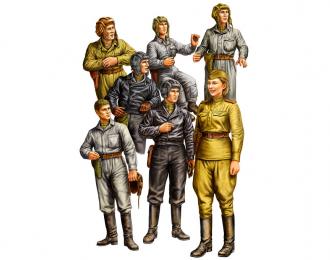 Сборная модель Советские танкисты