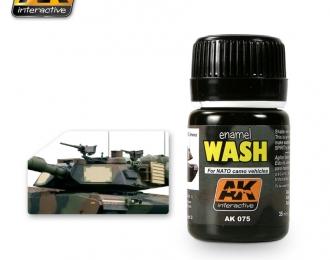 Смывка для нанесения эффектов WASH FOR NATO TANKS (танки НАТО)