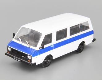 (Уценка!) РАФ 22038 Латвия, Автолегенды СССР 74, белый / синий