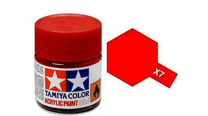 X-7 Red (краска акриловая, глянцевый красный), 10 мл.