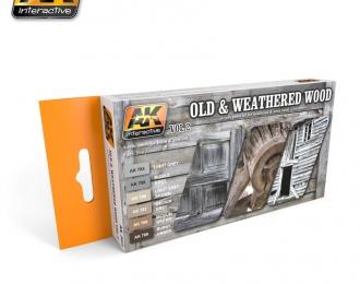 Набор акриловых красок OLD AND WEATHERED WOOD VOL.2 (6 красок) (старая и изношенная древесина, второй набор)