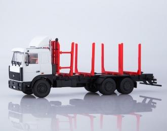 МАЗ-6303 сортиментовоз, серый / красный