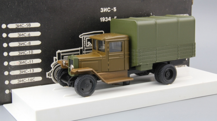 ЗИС 5 с тентом фургон, болотный / зеленый