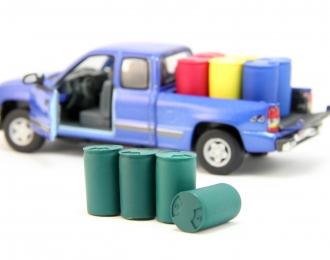 Набор пластиковых евробочек (227 литров) 4 шт, зеленый