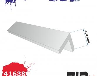 Пластиковый профиль уголок 4*4 (длина 250 мм)