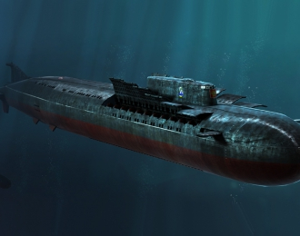 Сборная модель Подводная лодка Russian Navy SSGN Oscar II Class Kursk Cruise Missile Submarine