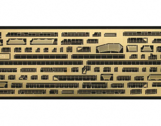 Фототравление ESCORT CARRIER USS GAMBIER BAY DETAIL UP ETCHING PARTS BASIC
