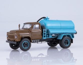 Ассенизационная машина АНМ-53 (53А), хаки / голубой