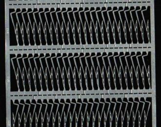 Фототравление Набор дворников, состав: 12 блоков 8/11х4, 18 блоков 9/13х4, нержавейка
