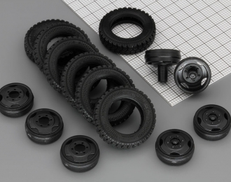 Резина, диски для Горький 3307, компл. из 7 колёс