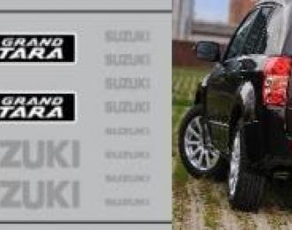 Набор декалей Логотипы и шильдики SUZUKI Grand Vitara