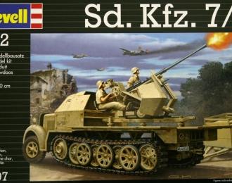 Сборная модель Немецкая ЗСУ на шасси полугусеничного тягача Sd.Kfz 7/2
