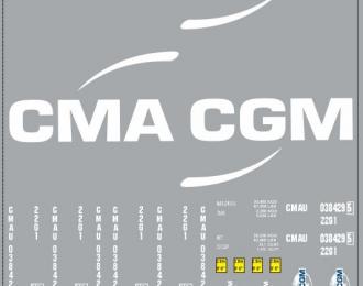 Набор декалей 0085 Контейнеры CMA GGM (вариант 3) (100х140)