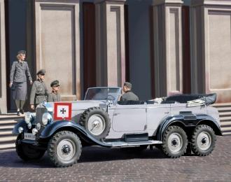 (Уценка!) Сборная модель G4 (производства 1939 г.), Германский легковой автомобиль с пассажирами