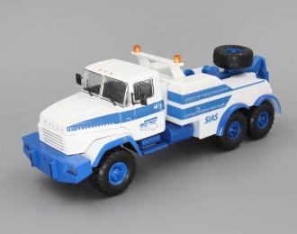КРАЗ 6446 SIAS Буксировочный тягач, белый / голубой