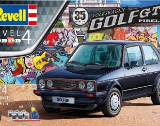 Сборная модель Легковой автомобиль VOLKSWAGEN Golf GTi Pirelli (Подарочный набор 35 лет)