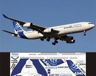 Декаль на самолет Arbus A340-300 (Arbus Industri (домашние цвета))