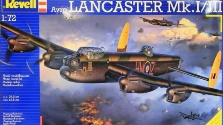 Сборная модель Британский бомбардировщик Lancaster  Mk. I / III