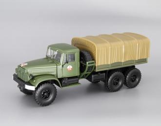 КРАЗ 214В Балластный тягач с тентом, хаки