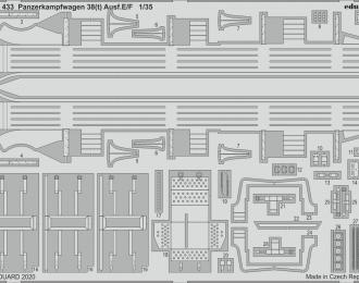 Сборная модель Набор фототравления для Panzerkampfwagen 38(t) Ausf. E/F