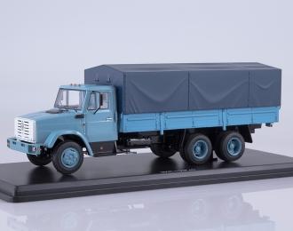 ЗИЛ-133Г40 бортовой (с тентом), голубой / синий